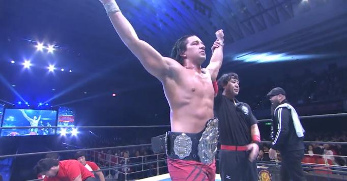ジェイホワイトが棚橋弘至に完勝、若き外人IWGP王者の誕生